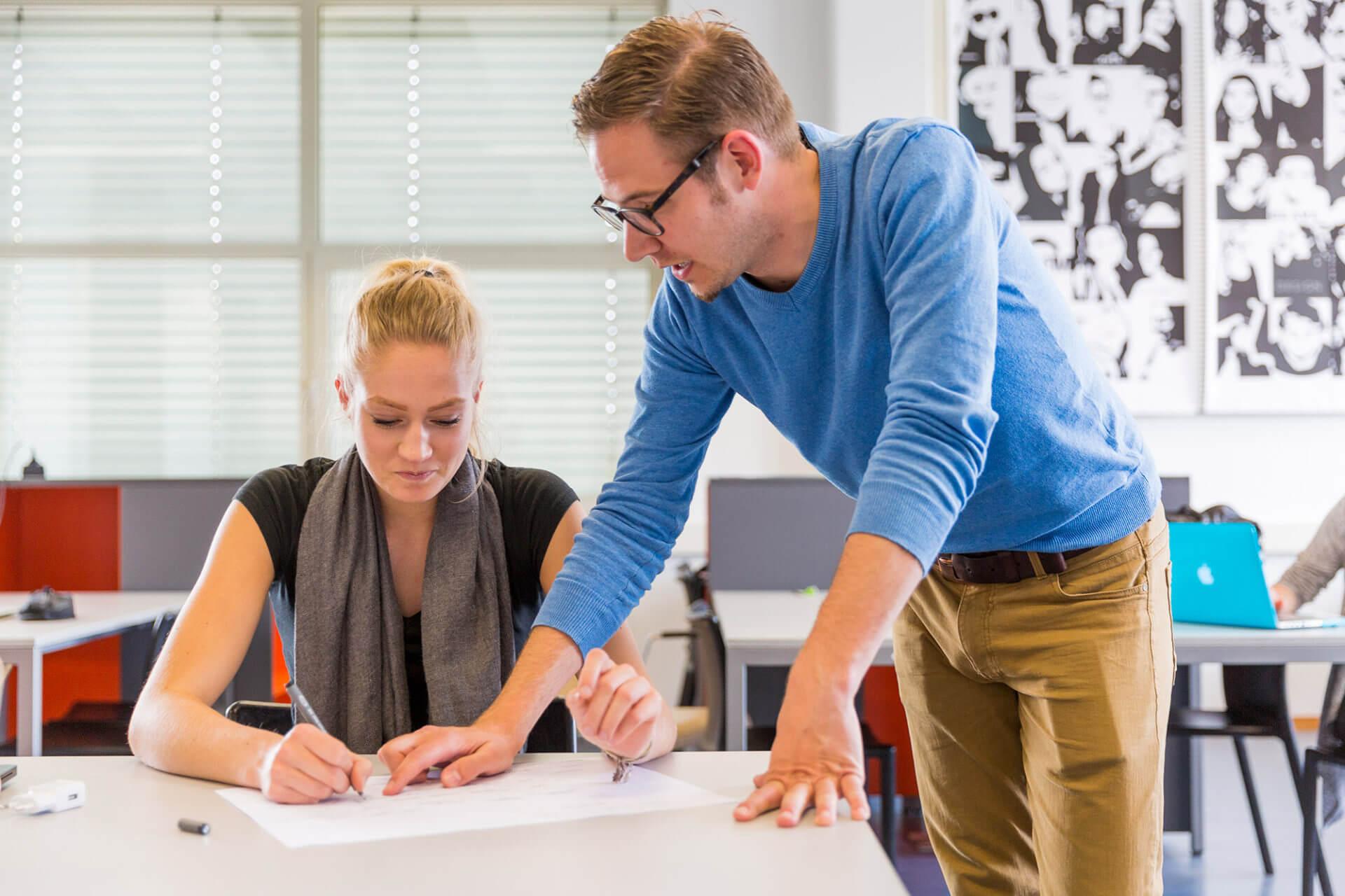 Student en docent