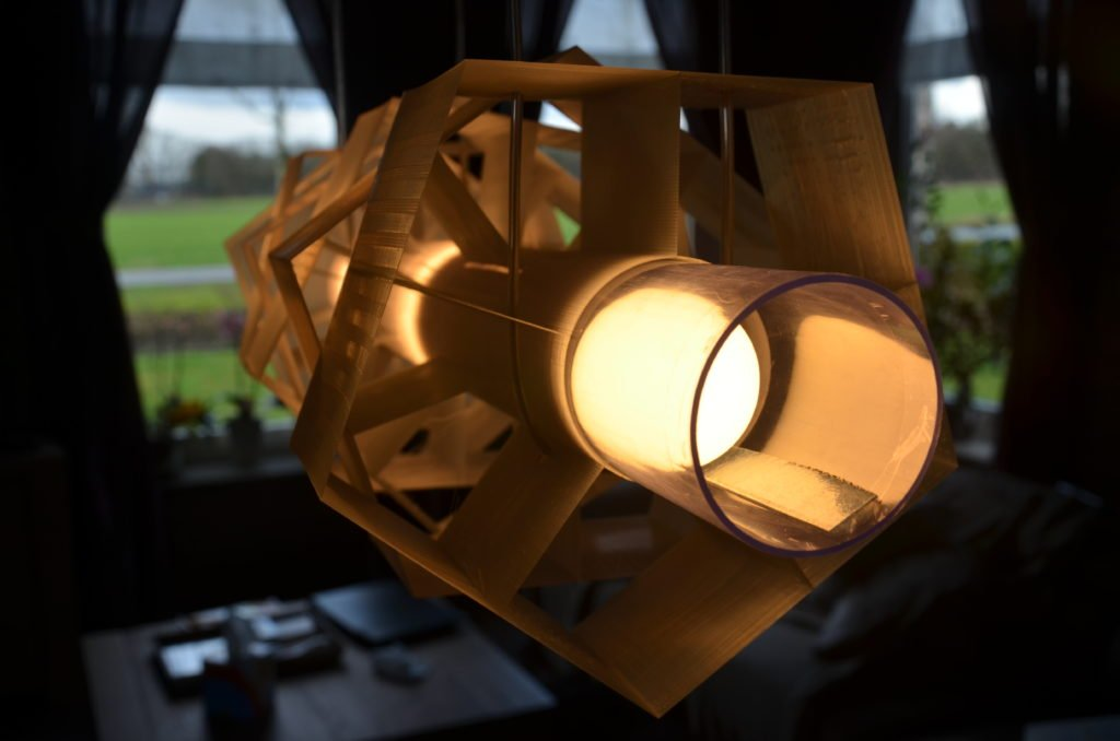 3D-geprinte lamp