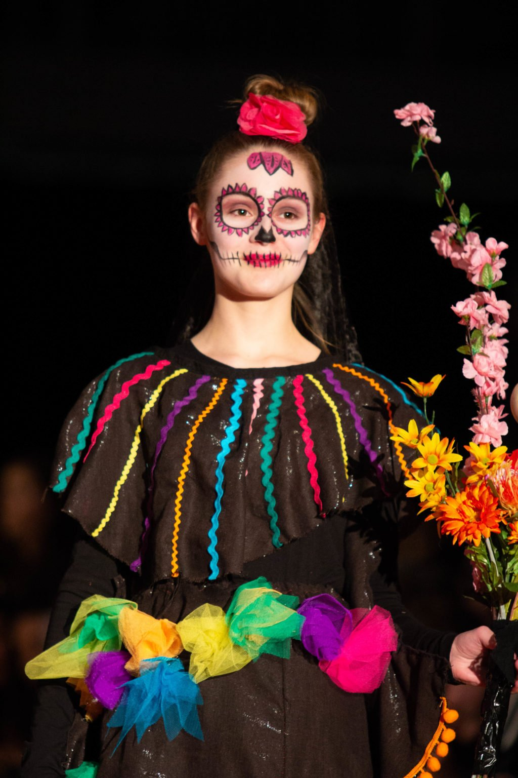 Fashionshow thema Mexicaans dodenfeest