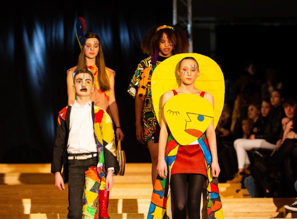 Fashionshow thema kunstenaars