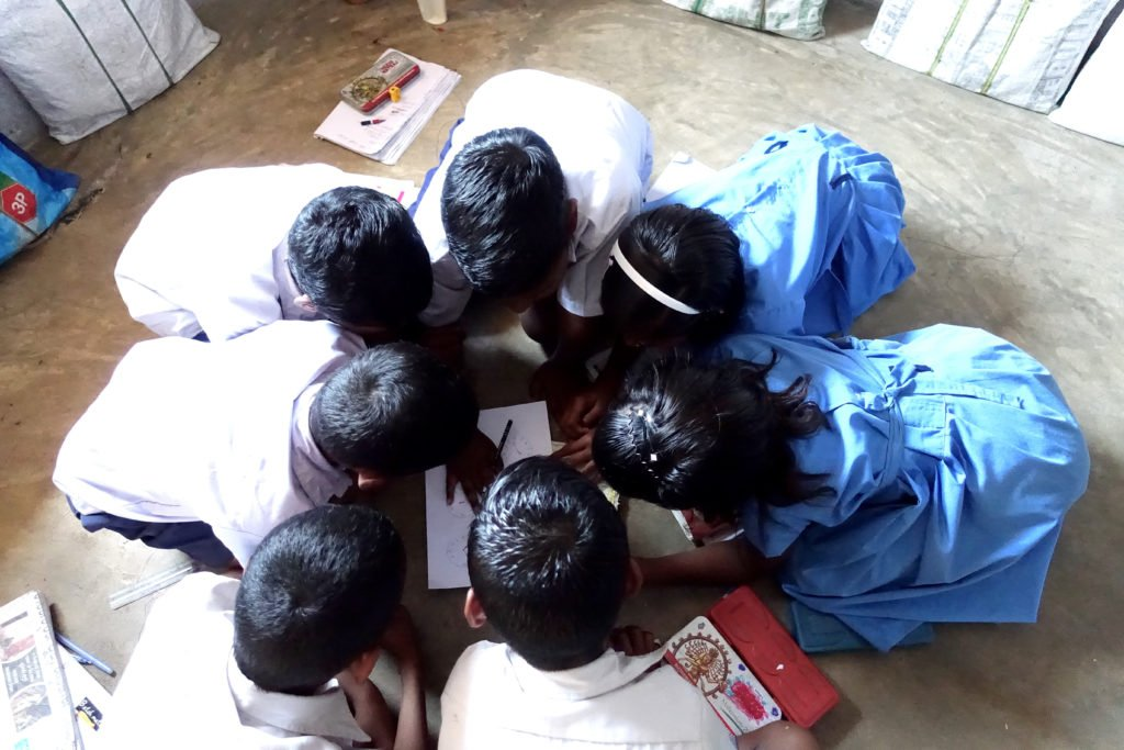 Kinderen in de klas in India