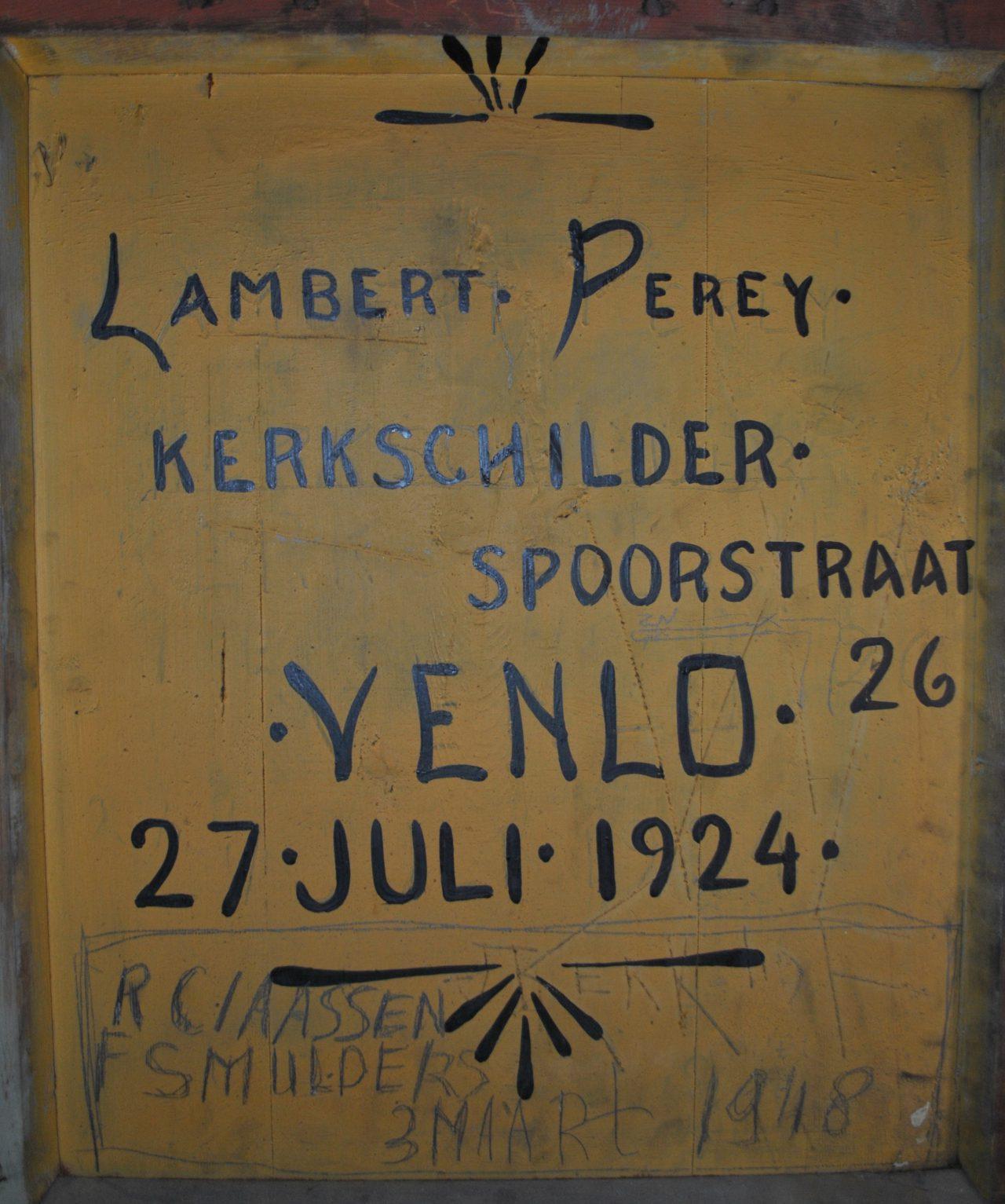 Signatuur Lambert Perey