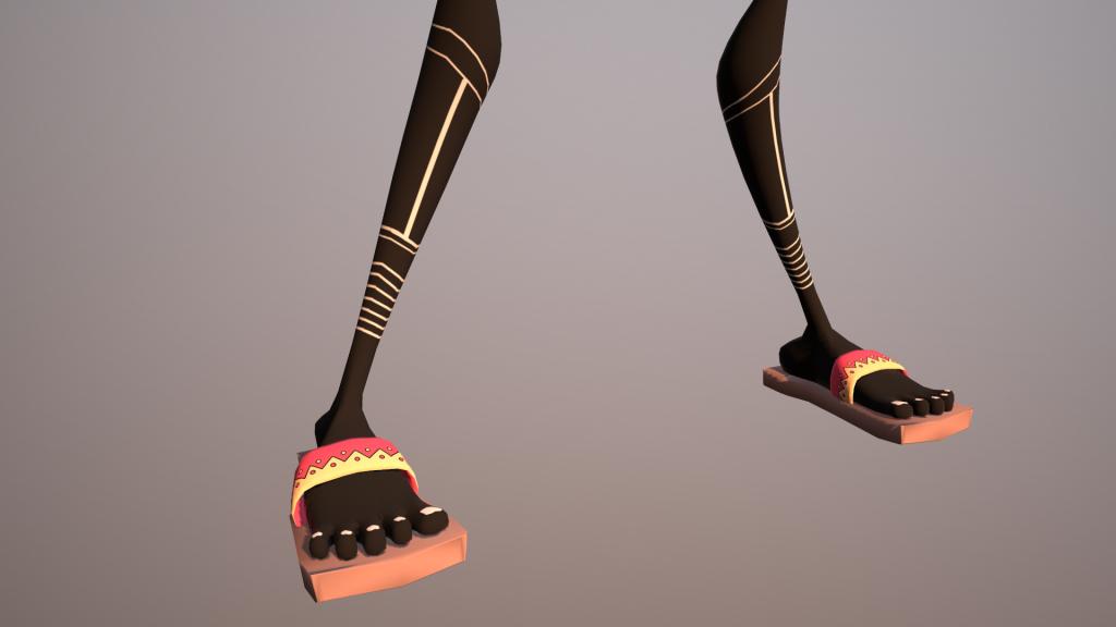 Karakter voeten